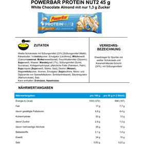 PowerBar Protein Nut 2 Bar Sacoche 18x2x22,5g, White Chocolate Almond